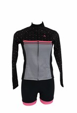 Bike textile - long-sleeved jacket, black&pink, windbreaker