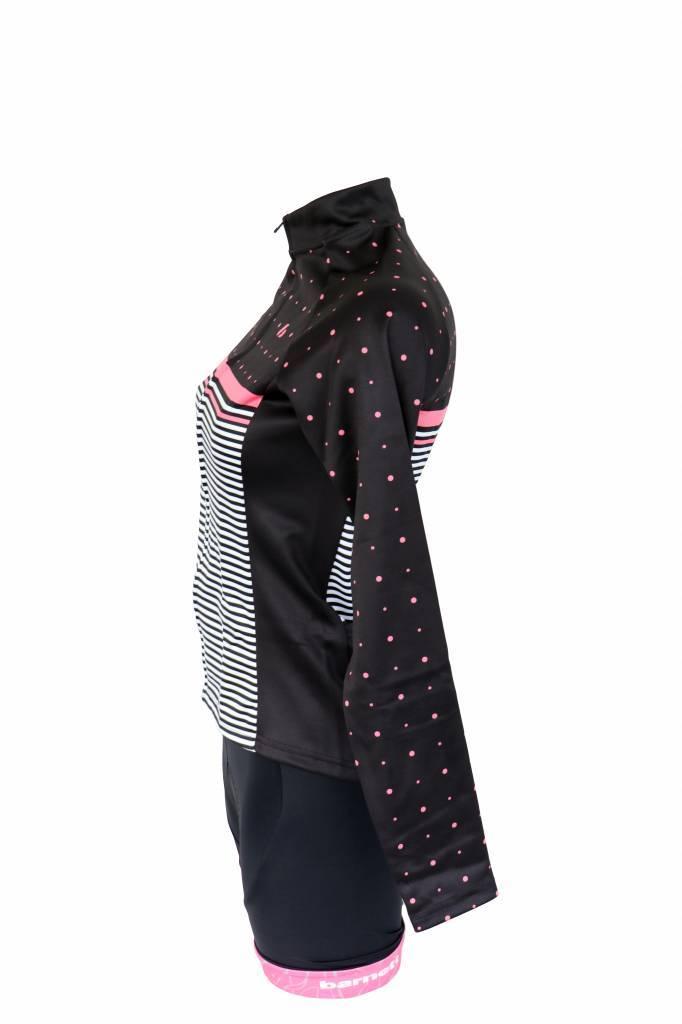 Textile Vélo - Veste manches longues, coupe-vent NOIRE ET ROSE
