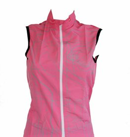 Bike Textile - Pink sleeveless windbreaker