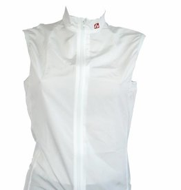 Bike Textile - White sleeveless windbreaker