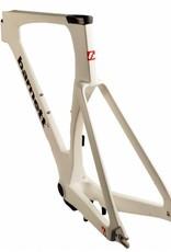 Barnett TT-01 carbon bike frame against the clock