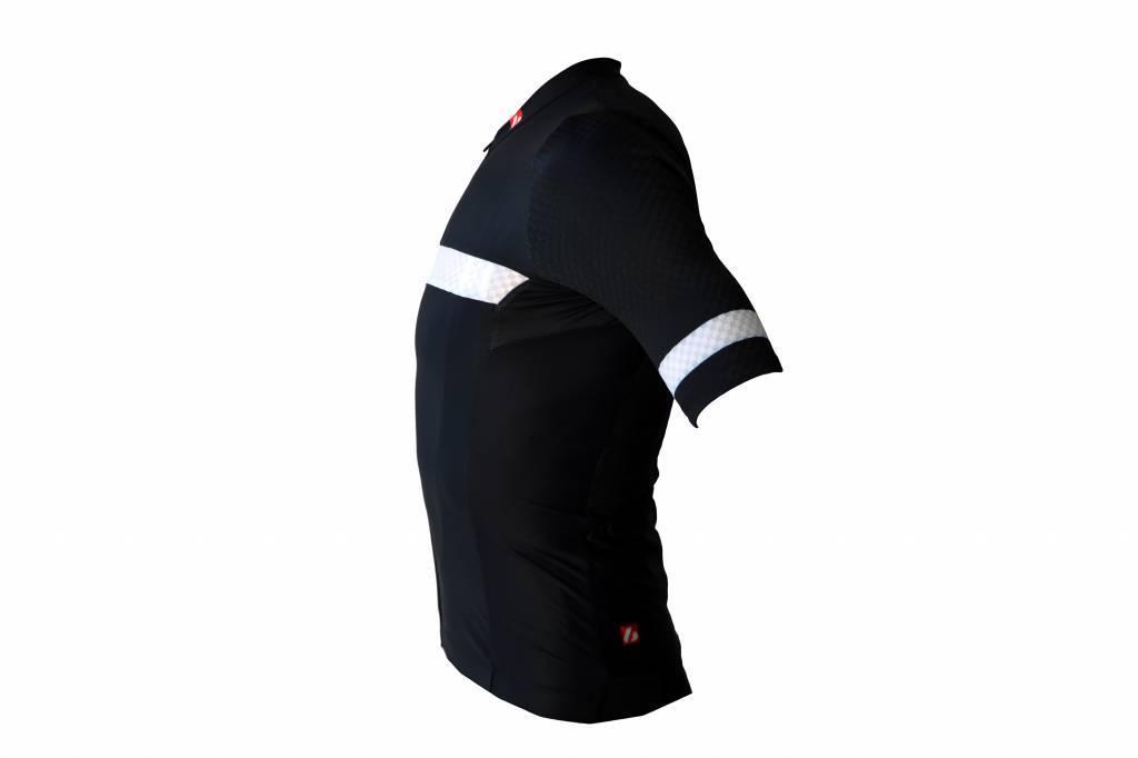 Textile Vélo - Maillot manches courtes noir et blanc