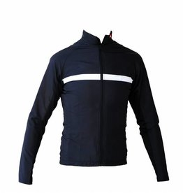 Bike textile - long sleeved jacket, black and white windbreaker