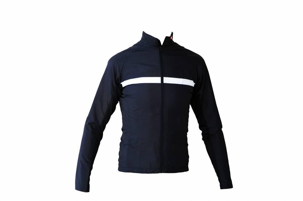 Bike textile - long sleeved jacket, black and white windbreaker