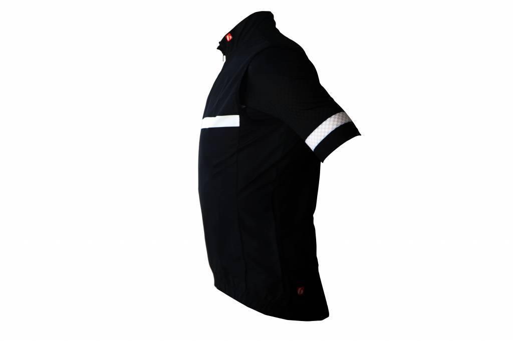 Bike textile - Windproof sleeveless Jersey, black&white