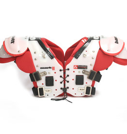 MARK II  football shoulder pads, Red