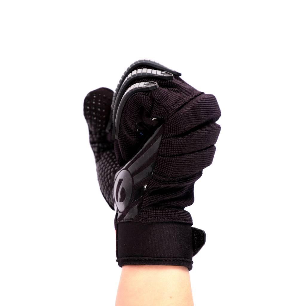 FKG-02 New generation linebacker football gloves, LB,RB,TE, black