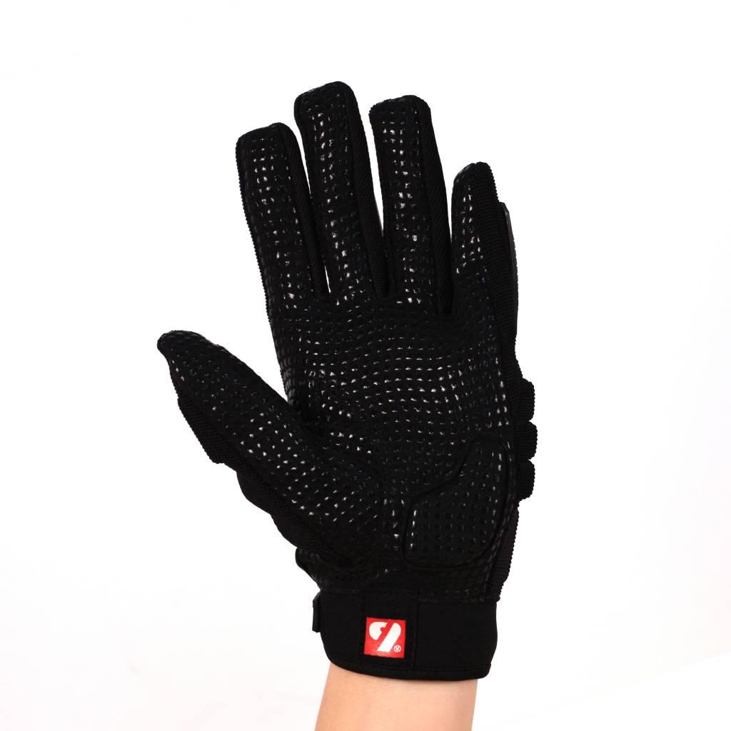 FLG-02 New generation linemen football gloves, OL,DL, black
