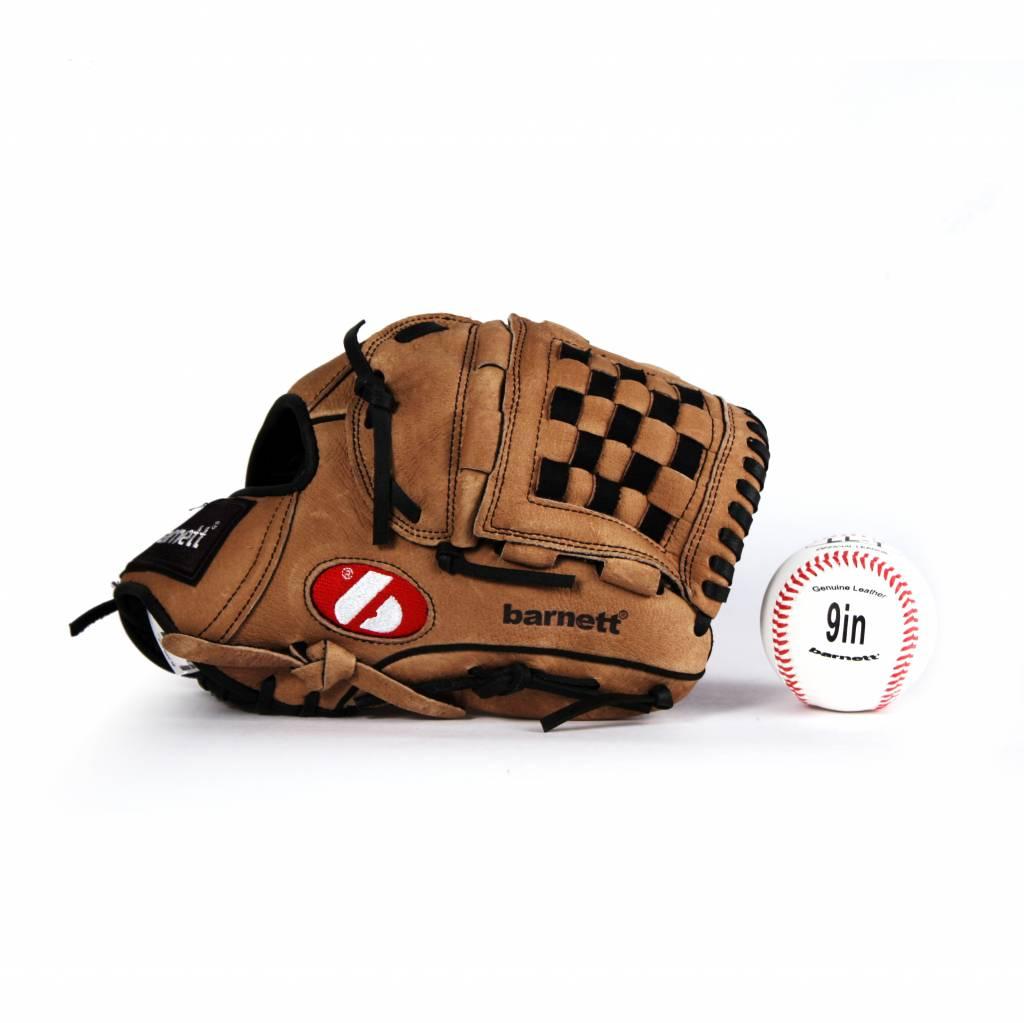 GBSL-2 Baseball set glove and ball, senior, leather (SL-120, LL-1)