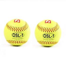 OSL-1 balle de compétition softball, 12'', jaune 2 pièces
