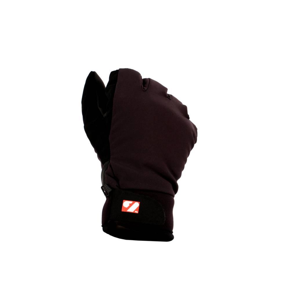 NBG-07 Winter softshell ski gloves, black