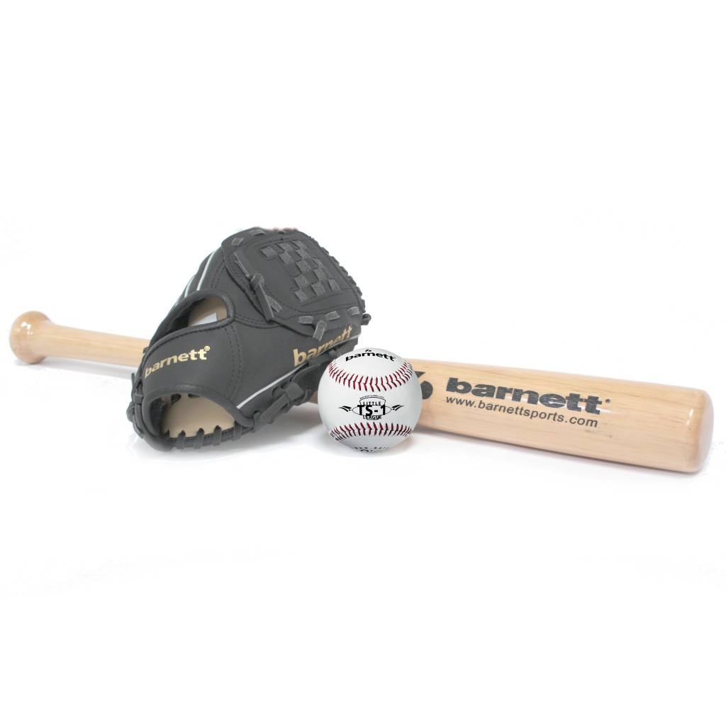 BGBW-1 Initiation baseball set, senior – Ball, Glove, Wooden bat (BB-W 32, JL-120, BS-1)