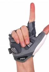 BG-06 Half finger bike gloves, competition, white