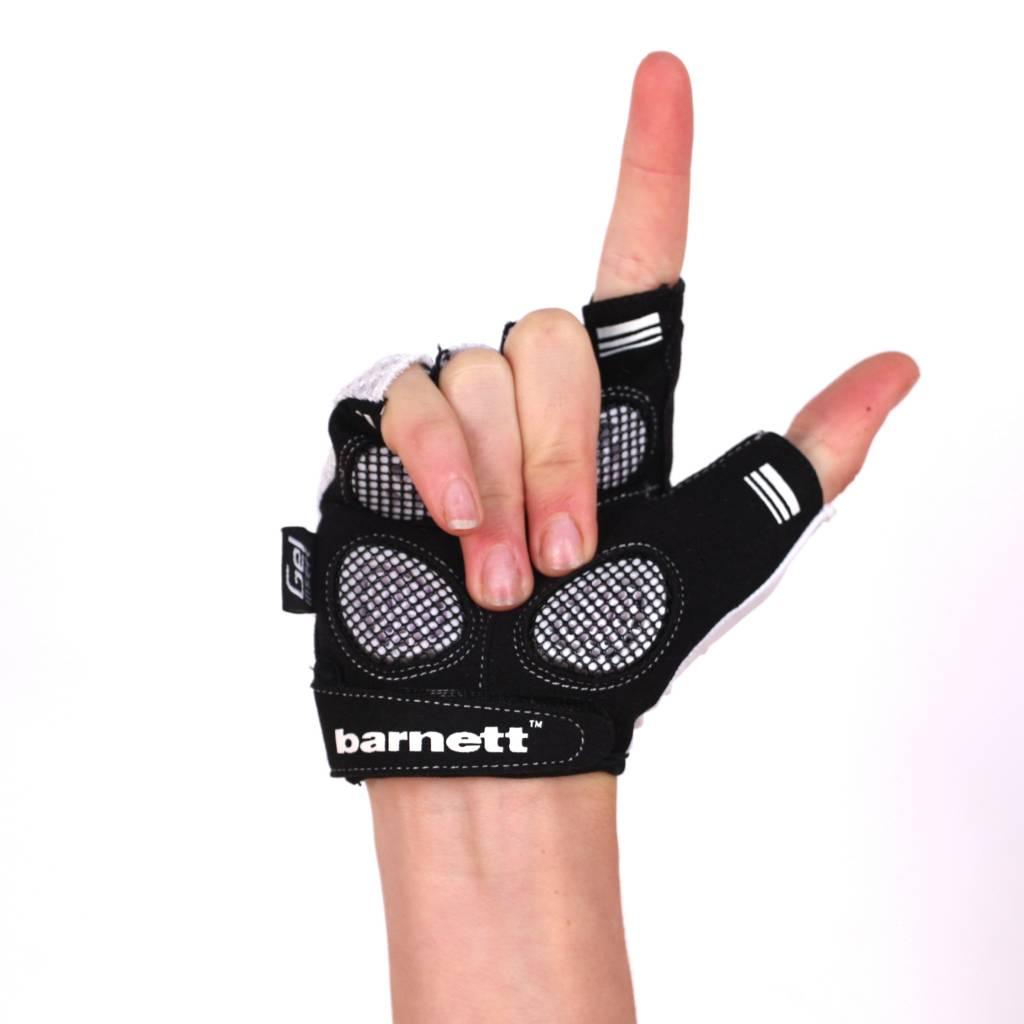 BG-02 Fingerless bike gloves, White