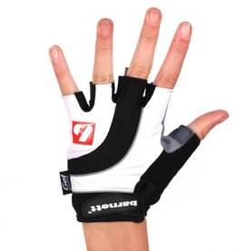 BG-04 fingerless bike gloves for competitions, white