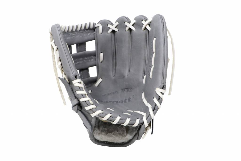 "FL-117 high quality baseball and softball glove, leather, infield / fastpitch 11.7"", light grey"