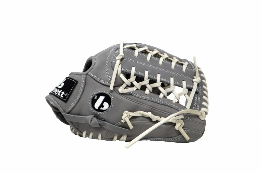"""FL-125 """" high quality leather baseball glove, infield / outfield / pitcher, light grey"""