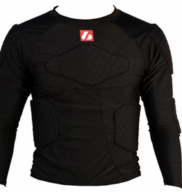 FS-08 compression T-shirt with long sleeves, 5 integrated pieces, for American football