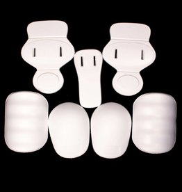 FKJ-01 Football junior pads set, 7 pieces, one size, white