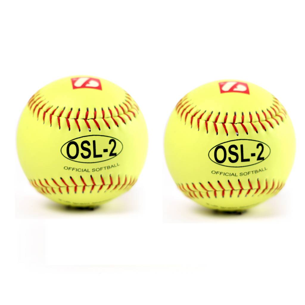 """OSL-2 Competition softball, size 12"""", yellow, 2 pieces"""