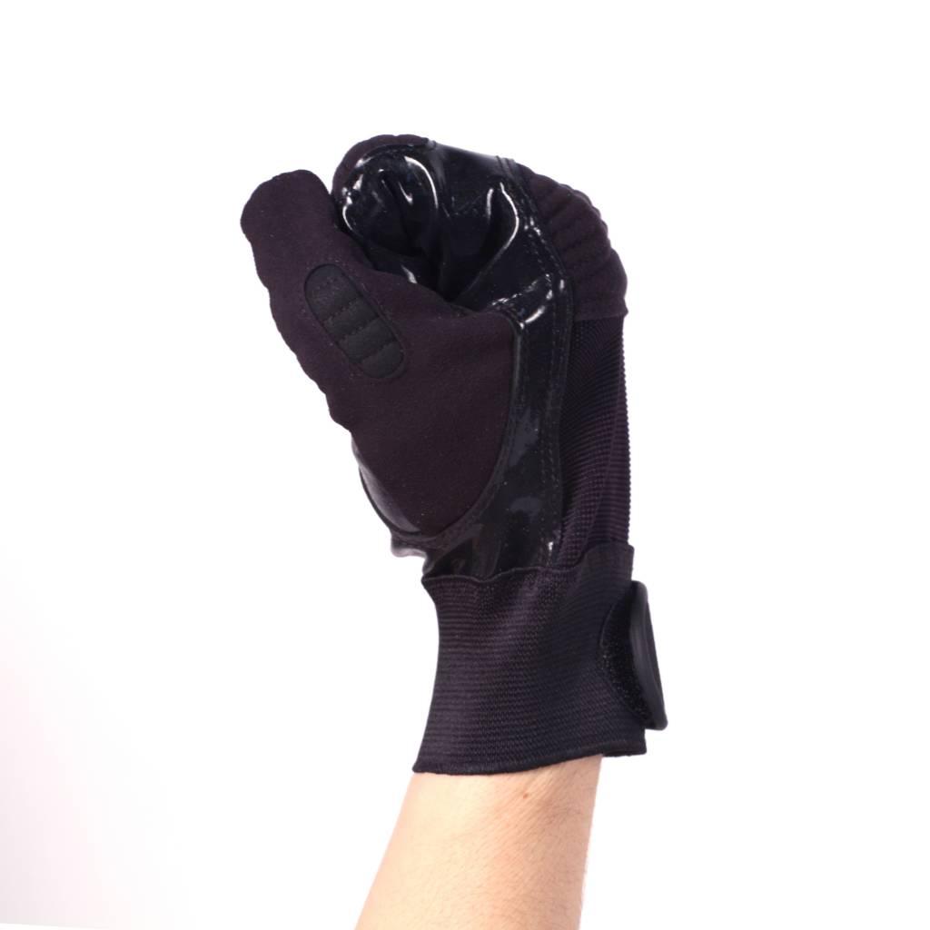 FKG-01 Football gloves for linebacker, with grip, black