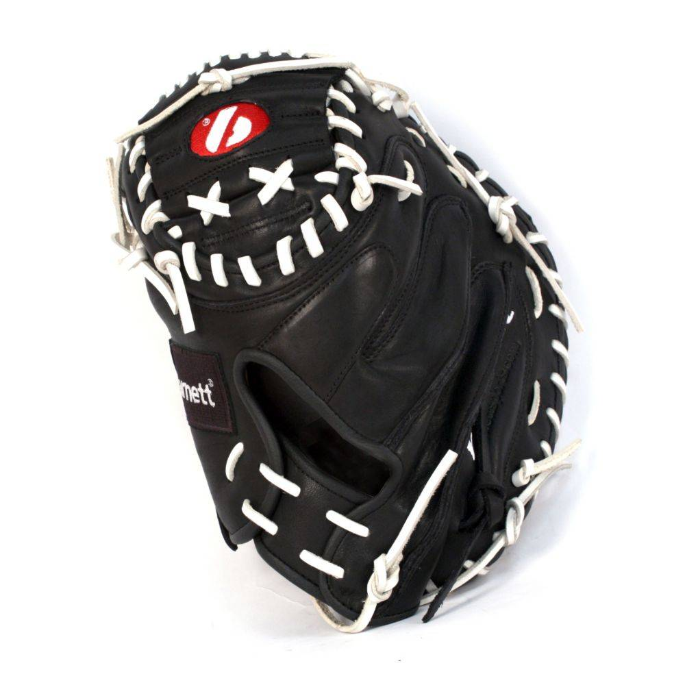 GL-202 Competition catcher baseball glove, genuine leather, adult 34'', Black