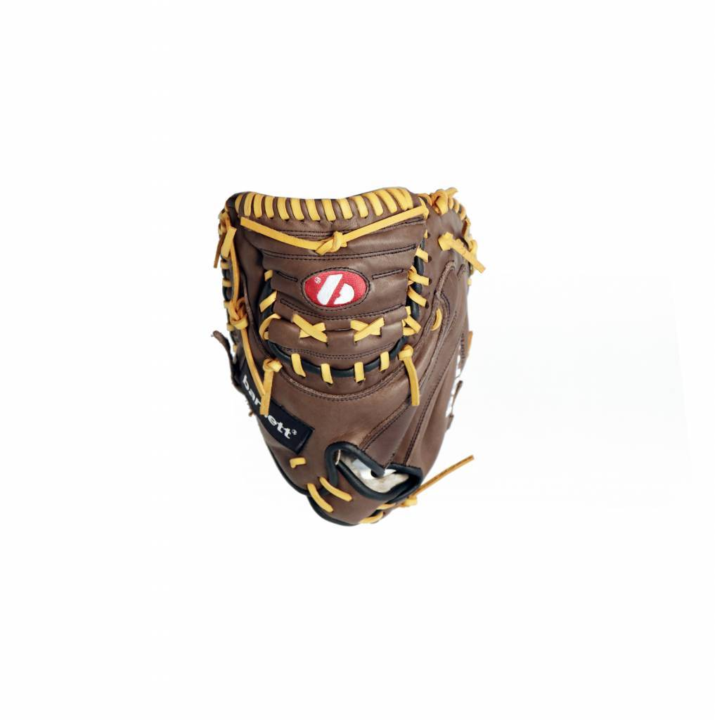 GL-202 Competition catcher baseball glove, genuine leather, adult 34'', Brown