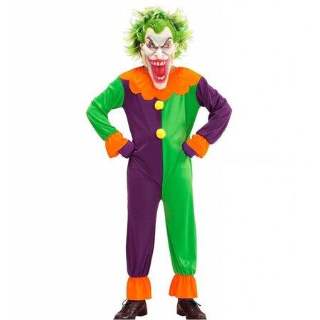 Evil joker clown horror