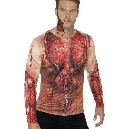 Shirt bloederige print