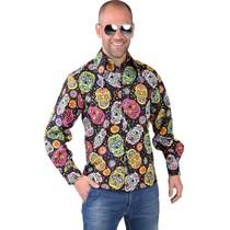 Mexicans Skulls blouse heren