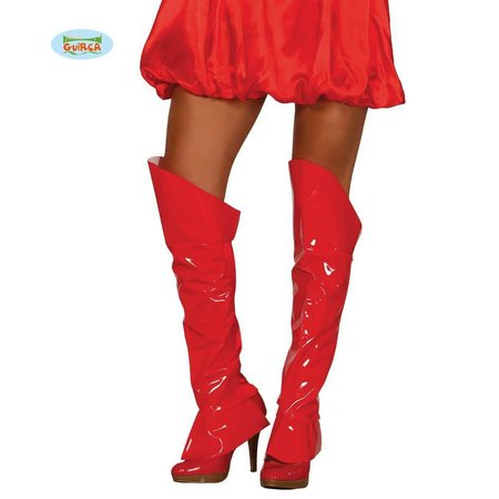 Rode Bootcovers Lak Dames