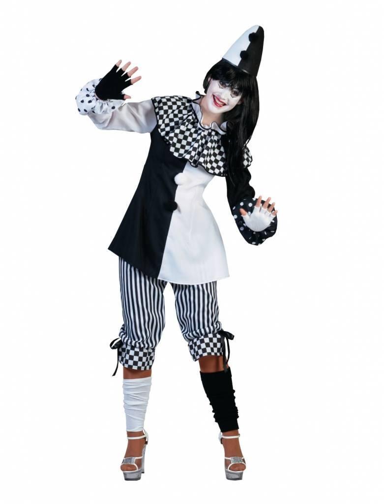 Halloween Kleding Dames.Pierrot Kostuum Dames Pedrolina
