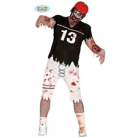 Zombie rugby speler kostuum