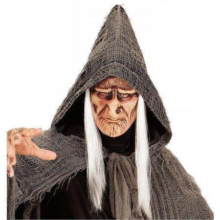 Masker Tovenaar met wit haar