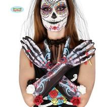 Skelet Bloemen Handschoenen
