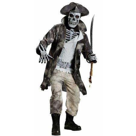 Complete piraat skelet outfit