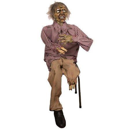 Deco zombie zittend 130 cm