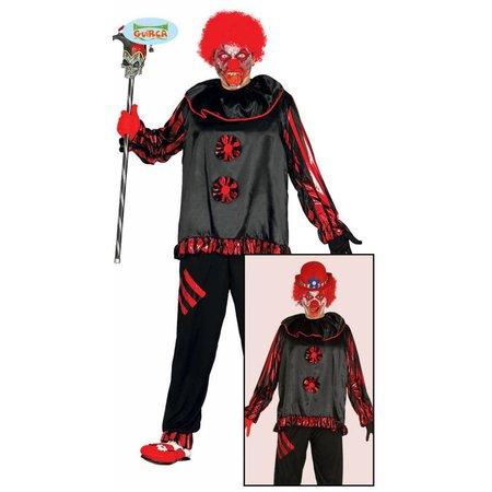Volwassen Crazy Clown kostuum Halloween