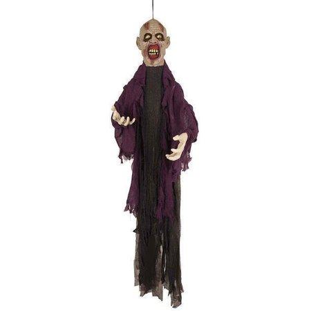 Halloween zombie decoratie 150cm licht/geluid/beweging