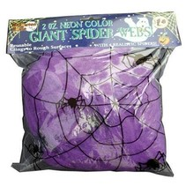 Spinneweb paars 50gr + 2 spinnen