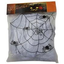 Decoratie Spinnenweb 100gr + 4 spinnen