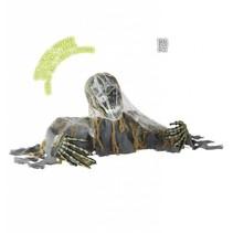 Skelet Zombie groundbreaker met bewegend hoofd