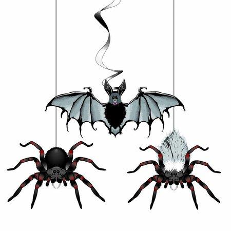 Hang deco Halloween spin/vleermuis