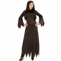 Zwarte Heksenjurk Mortisia vrouw