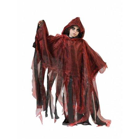 Griezelige Halloween cape kind rood