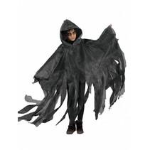 Griezelige Halloween cape kind grijs