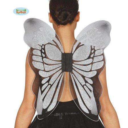 Zilveren Vlinder Vleugels 46x54 cm