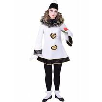 Deftige Pierrot Dame kostuum