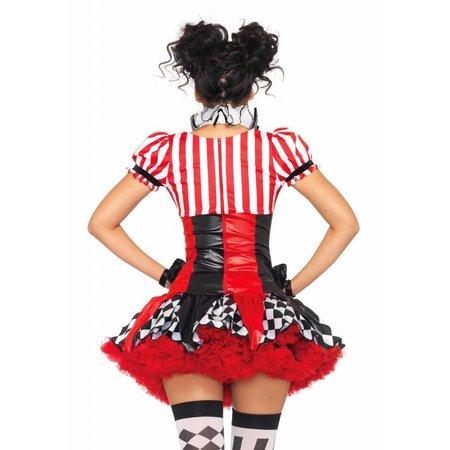 Sexy Harlequin Clown Kostuum