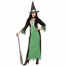 Groene Heks Vrouw Kostuum